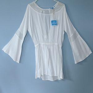 New White Beach Swim Suit Coverup Dress Medium